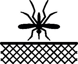 蚊の昆虫および黒い無料アイコンでネット