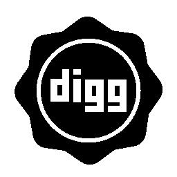 Digg 社会バッジ無料アイコン