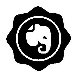 社会バッジで象に無料のアイコン