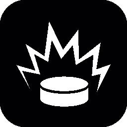 角丸の正方形の内部のプッシュ ボタン無料アイコン