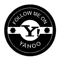 Yahoo のレトロなバッジの無料のアイコンに私に従う