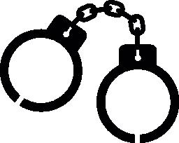 警察の手の袖口チェーン無料アイコン