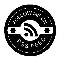 バッジの無料のアイコンを RSS フィードに私に従う