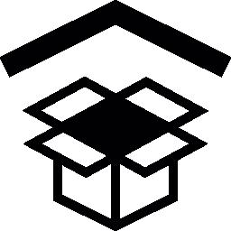 無料のアイコンを矢印で Dropbox のシンボル