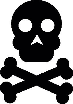 頭骨および骨のシンボル無料アイコン