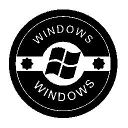 Windows のオペレーティング システムは、無料のアイコンをバッジ