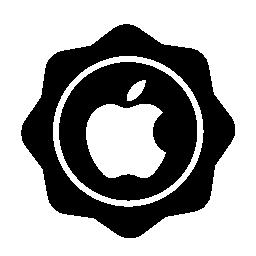 アップル レトロなバッジの無料アイコン