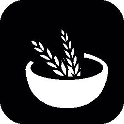 コムギのボウルの無料アイコン