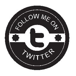Twitter の社会的なバッジの無料のアイコンに私に従う