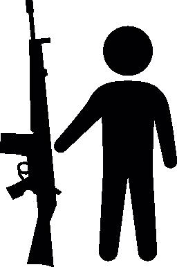 アーマライト銃無料のアイコンを持つ男性