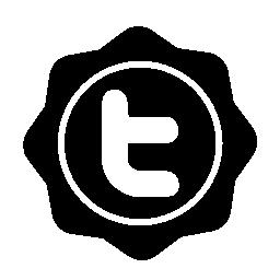 Twitter の社会的なバッジの無料のアイコン