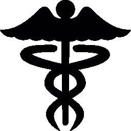 カドゥケウス医療シンボル無料アイコン
