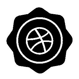 バスケット ボールのバッジの無料のアイコン