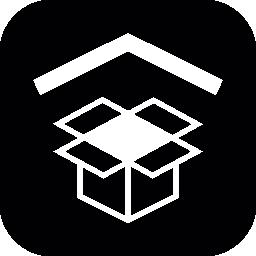 シェブロン シンボル無料アイコンとファイルを開くボックス