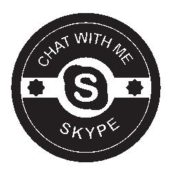 Skype は無料のアイコンを社会的なバッジ