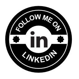 LinkedIn の社会的なバッジの無料のアイコンに私に従う