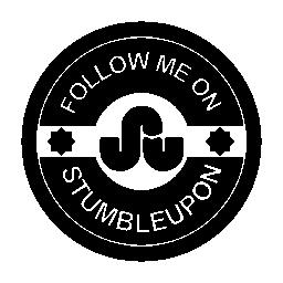 Stumbleupon の社会的なバッジの無料のアイコンに私に従う