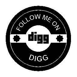 Digg の社会的なバッジの無料のアイコンに私に従う