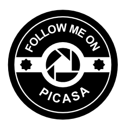 Picasa 社会バッジ無料アイコンに私に従う