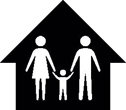 ホーム無料のアイコンの 3 つの家族