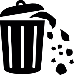 廃棄物ができるゴミ箱無料アイコンの完全な