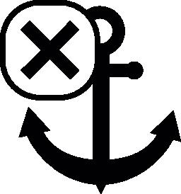 十字のマーク無料アイコンのアンカー記号