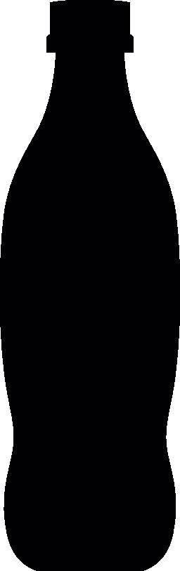 ソフトド リンクのボトル シルエット無料アイコン