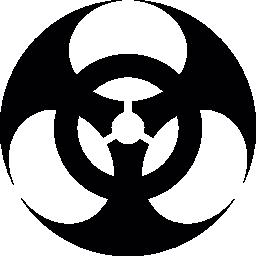 生物学的ハザード シンボル無料アイコン
