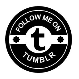 Tumblr 社会バッジ無料アイコンに私に従う