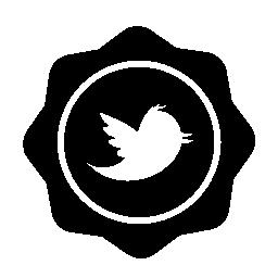 Twitter の無料アイコンのバッジのロゴ