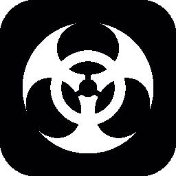 正方形の背景無料アイコンのバイオハザードのシンボル