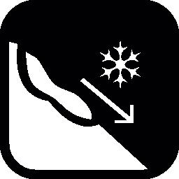 雪のなだれは、無料のアイコンを警告