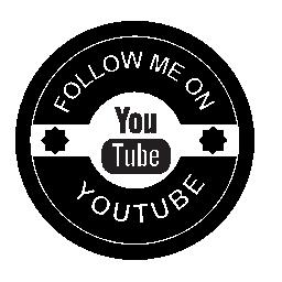 Youtube の社会的なバッジの無料のアイコンに私に従う