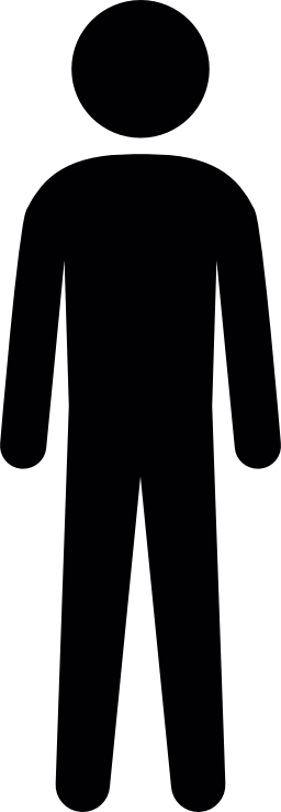背の高い人間シルエット無料アイコン