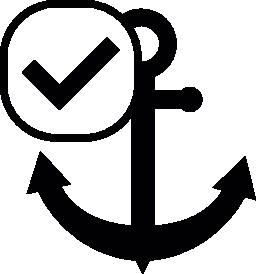 チェック マーク無料アイコンの船のアンカー記号