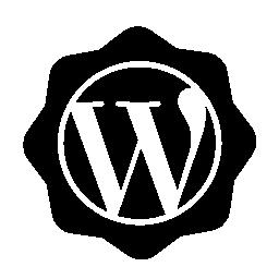 ワードプレスの社会的なバッジの無料のアイコン