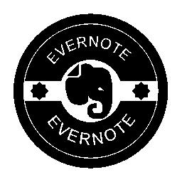 Evernote のレトロなバッジの無料のアイコン