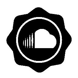 サウンド クラウド社会バッジ無料アイコン