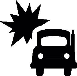 トラック事故無料アイコン
