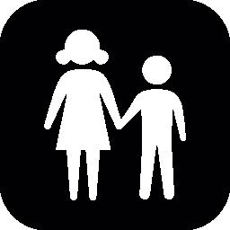 子供たちのカップルの無料のアイコン