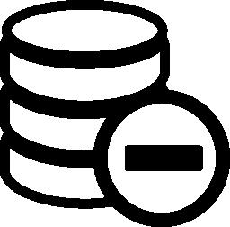 データベースの無料のアイコンを削除します。