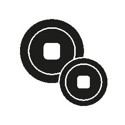 無料ベクトルのアイコンの最大のデータベース日本コイン無料アイコン
