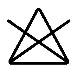 洗浄オプション クロス無料アイコン付きの三角形の記号