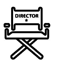 映画監督の椅子無料アイコン