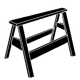 椅子に立つ無料の輪郭のアイコン
