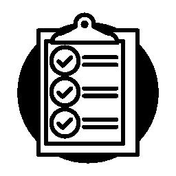 チェック リスト無料のアイコンを使用してクリップボード