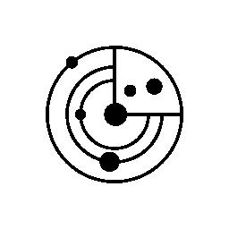 小さな円の惑星無料アイコンとしてソーラー システム モデル