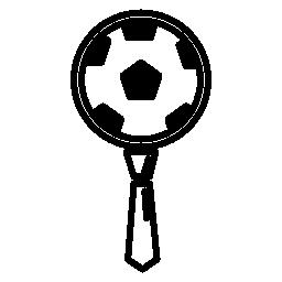 サッカー ボールとネクタイ無料アイコン