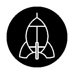無料ベクトルのアイコンの最大のデータベース黒い円の背景の無料アイコンをロケット船概要