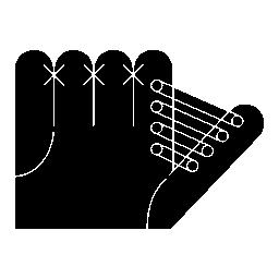 白の詳細を持つ手袋バリアント無料アイコン